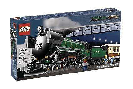 amazon com lego creator emerald night train 10194 toys games