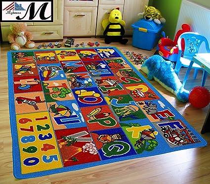 Amazon Com Kids Rug Abc 1 Numbers Children Area Rug 5 X7 Non
