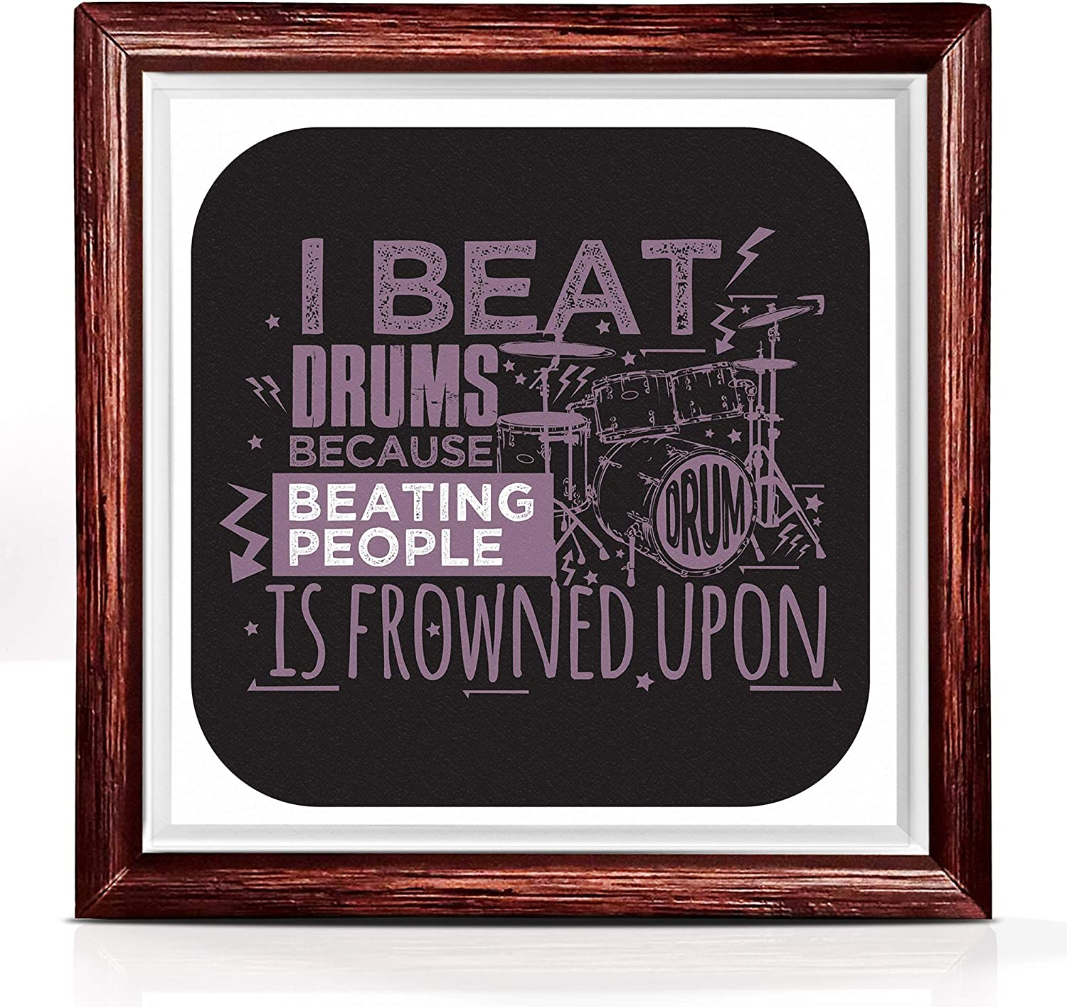 Drummer Gifts   Music Gifts for Drummers   Original Wall Art Music Gift for Musician   Ideal Drum Set Accessories for Music Studio Decor   Funny Music Teacher Gifts