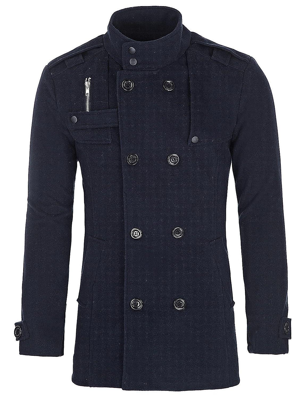 6c2d4f023b7 PAUL JONES Men s Classic Double Breasted Wool Blends Coat Jacket at Amazon  Men s Clothing store