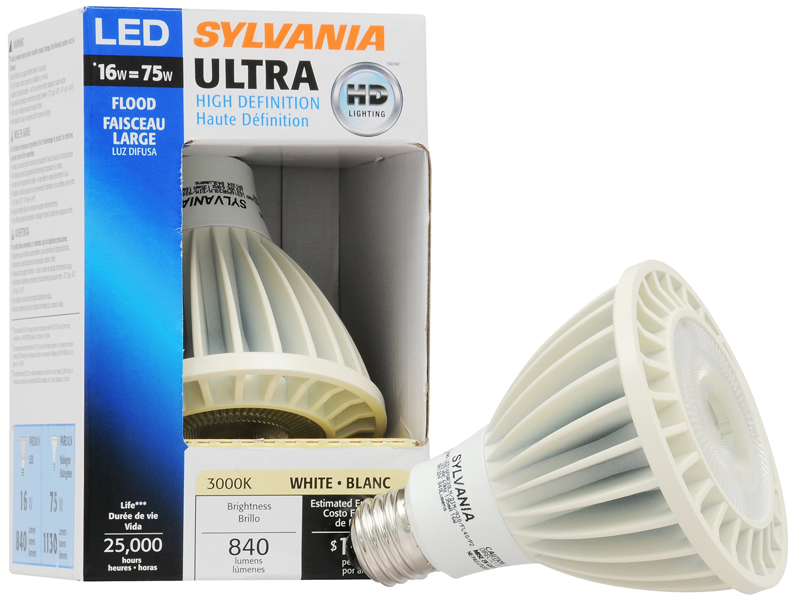 Sylvania 72533 ULTRA HD Professional Series LED PAR30 Long Neck 40-Degree Flood Light