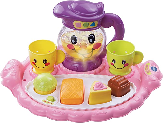 NEW CHILD's TEA Play Pretend SET W// Carrying Purse 12 Pieces Fun Christmas Toys