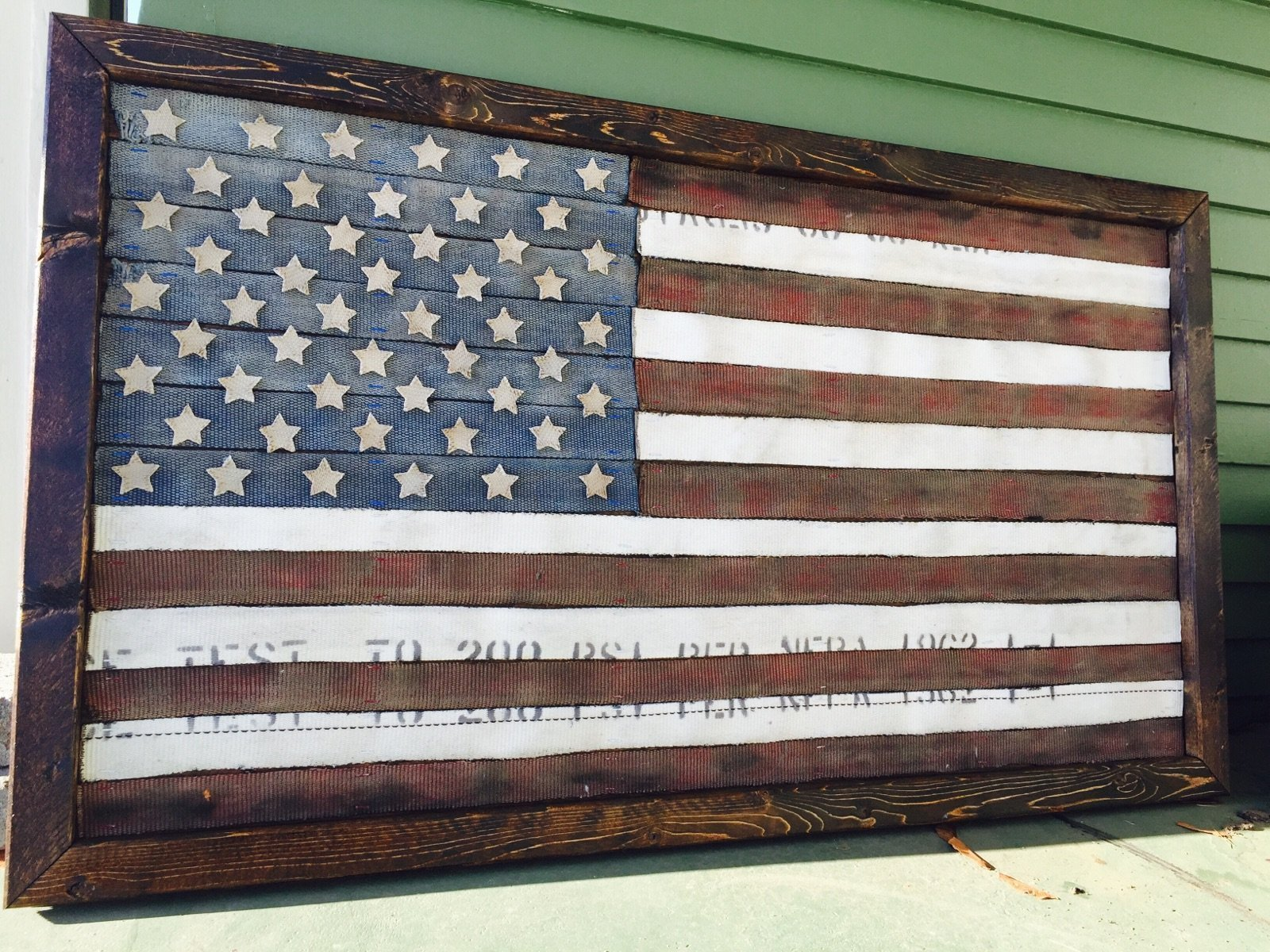 Fire Hose American Flag by American Fire Co