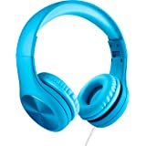 LilGadgets New Connect+ Pro Premium Volume Limited Wired Headphones with SharePort for Children/Kids (Blue)
