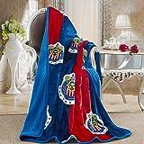 "Chivas Silk Touch Sherpa Lined Throw Blanket 50x60"""