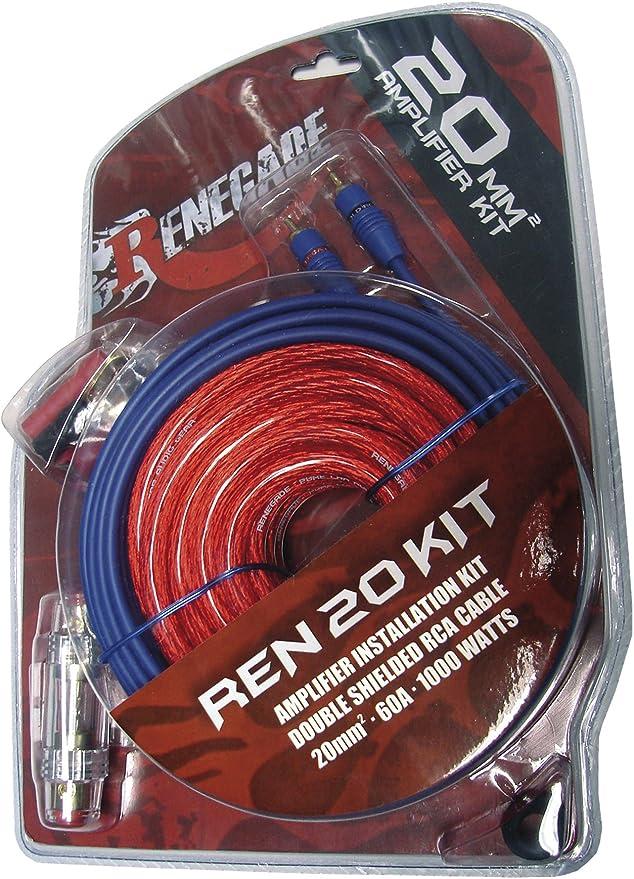 Imagen deRENEGADE REN20KIT Adaptador de Cable RCA Negro, Azul, Rojo - Adaptador para Cable (RCA, RCA, Male Connector/Male Connector, 15,8 m, Negro, Azul, Rojo)