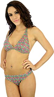 product image for Lifestyles Direct Tan Through Halter Style Bikini Top for Women
