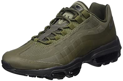 361dac21f2 Nike Men's Air Max 95 Ultra Essential Gymnastics Shoes, Green (Cargo Khaki  Black)