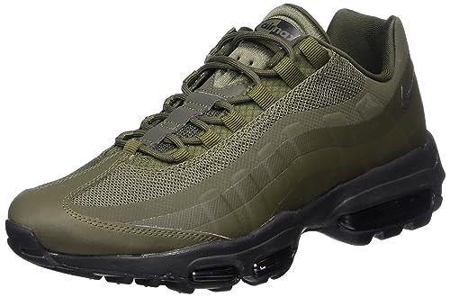 d1528476e2bb2 Nike Men s s Air Max 95 Ultra Essential Gymnastics Shoes Green (Cargo Khaki  Black)