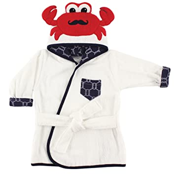 a4f74c6bea Amazon.com  Hudson Baby Animal Face Hooded Bath Robe