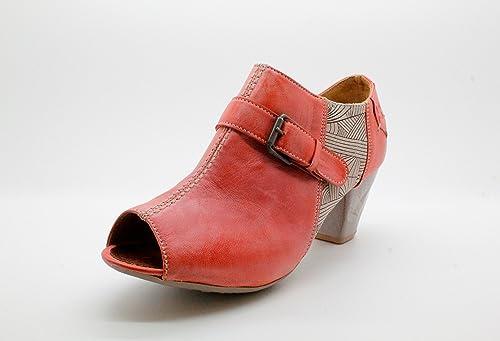 Rosa De Para Maciejka Vestir Melocotón Zapatos Piel Mujer j43ALq5R