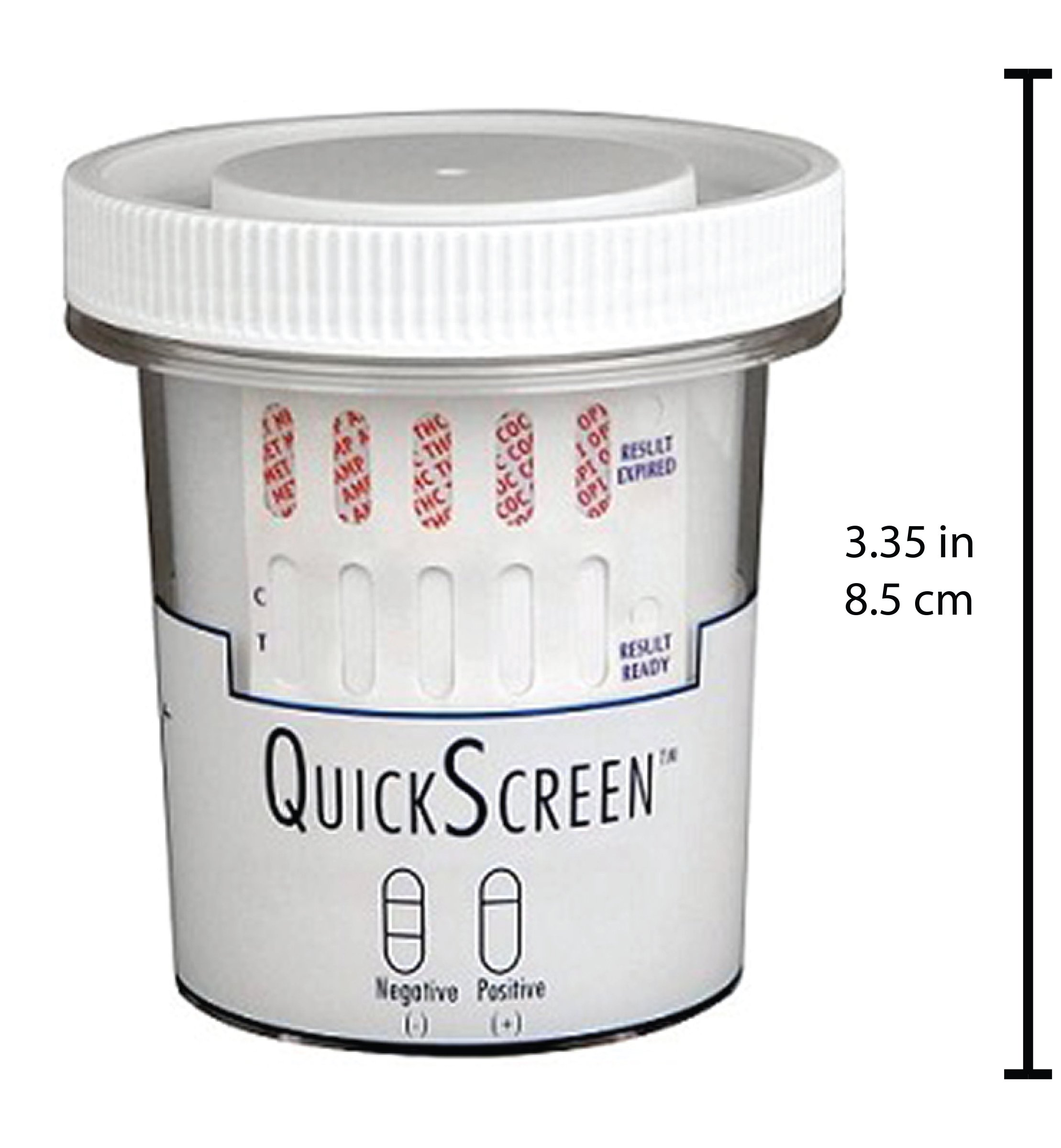 QuickScreen 12 Panel Urine Drug Test Cup 9308ZN - AMP, MDA, BAR, BZD, COC, MET-500, MDMA, MTD, OPI-300, OXY, PCP, THC + Timer (25) - Made in USA