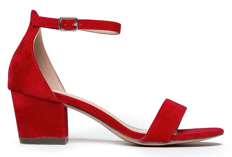 2f24f50fa J. Adams Ankle Strap Kitten Heel - Adorable Low Block Heel - Daisy  Amazon. ca  Shoes   Handbags