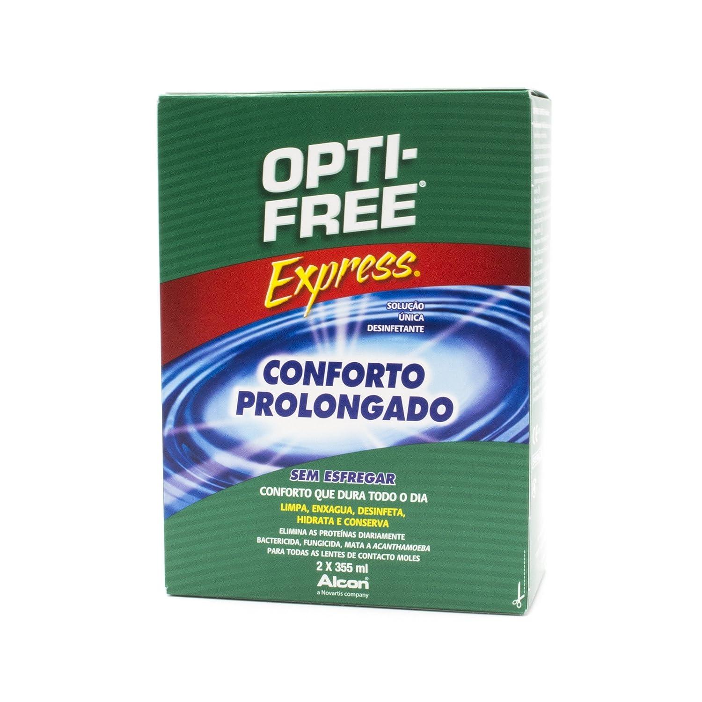 7a5f906de9 Alcon Opti-Free Express - Líquido para lentes de contacto, paquete de 2  frascos de 355 ml: Amazon.es: Salud y cuidado personal