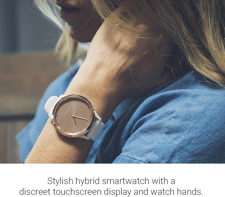 Garmin 0100185012 Hybrid Smartwatch Men Women White Rose Gold Small Medium New