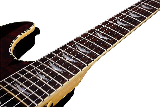 Schecter Omen extreme-6 guitarra eléctrica (negro rojo): Amazon.es: Instrumentos musicales