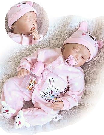 55cm Realistic Reborn Dolls Baby Lifelike Sleeping Vinyl Silicone Newborn Girls