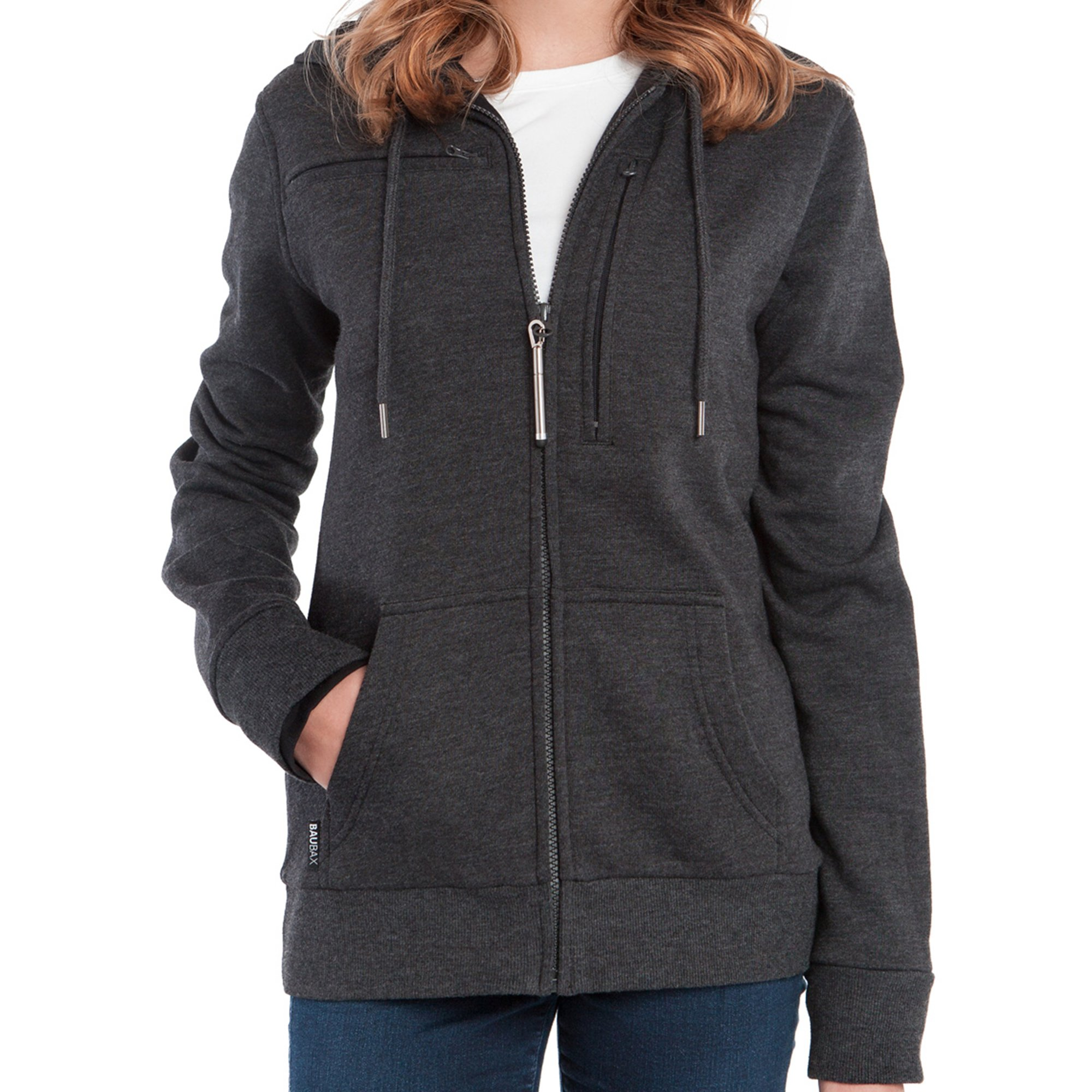 Baubax Travel Jacket - Sweatshirt - Female - Charcoal - Medium by Baubax