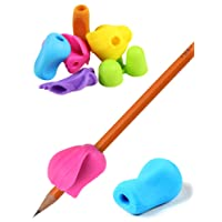 Silicone Pencil Grips - Pack of 6 Assorted Colours - Handwriting Aid Pen Grips for Kids and Adults - Suitable For All Ages and Unisex