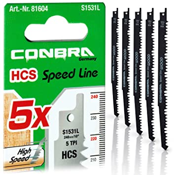 10 HCS Sägeblätter für Tigersäge Säbelsäge Säbelsägeblätter f Grünholz Holz