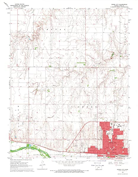Amazon.com : YellowMaps Dodge City KS topo map, 1:24000 Scale, 7.5 on
