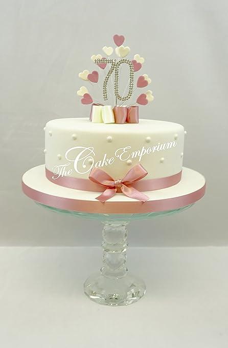 Strange Cake Topper Heart Burst Spray Diamante 70Th Birthday Vintage Pink Funny Birthday Cards Online Bapapcheapnameinfo