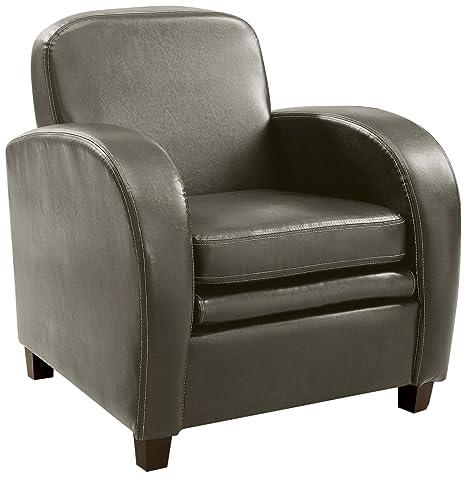 Amazon.com: Muebles de América Pascal doble Sillón de piel ...