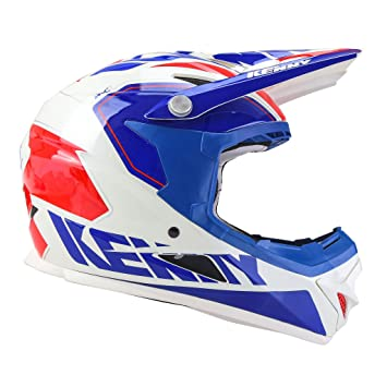 Casco Kenny Rocket azul/blanco/rojo, rojo