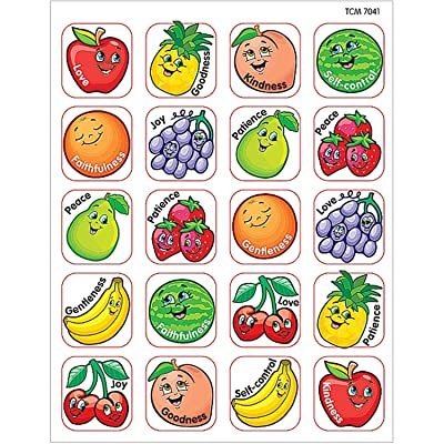 Teacher Created Resources Fruit of the Spirit Stickers, Multi Color (7041): Office Products