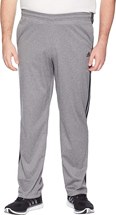 5339dbe65 adidas Men's Big & Tall Essentials 3-Stripes Regular Fit Tricot Pants Dark  Grey Heather