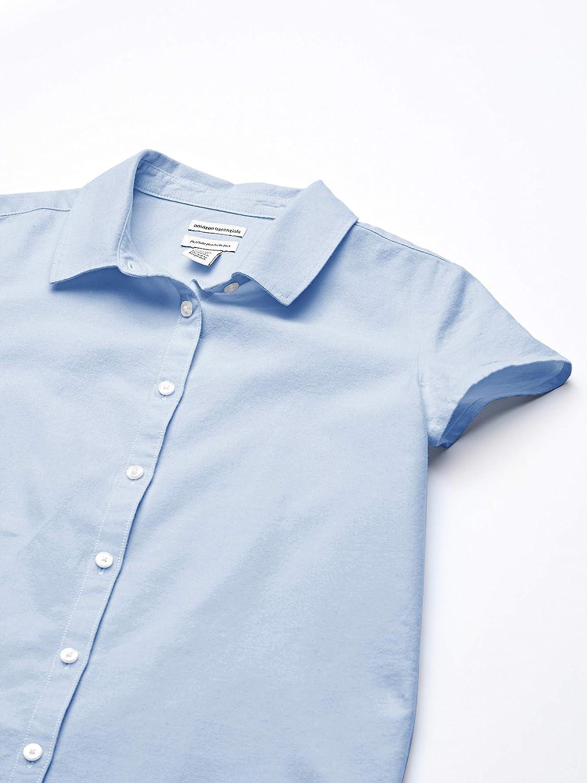 Essentials Girls' Short Sleeve Uniform Oxford Shirt: Clothing