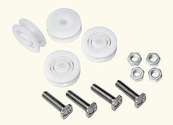 macgreen® Invernadero de ruedas para puerta, diámetro 28 mm, 4 unidades): Amazon.es: Jardín