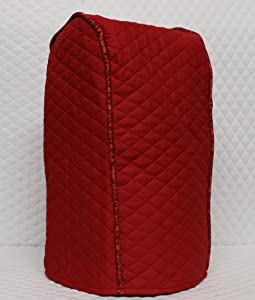 Red Quilted Food Processor Cover