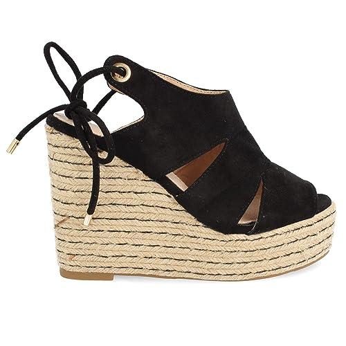 Espadrillas Sandalo Bicolore Donna Corda Iuta Piattaforma Di jGSULpqVzM