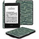 Fintie Kindle Paperwhite ケース 超薄 軽量 保護カバー オートスリープ機能付き (2016 NEW-Kindle Paperwhiteマンガモデル と 2012, 2013, 2015バージョン適応)(和柄×ストライプ)