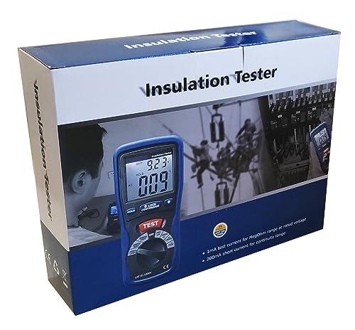 Ruby Electronics DT-5500 Digital Insulation Tester MegOhmMeter CAT III 1000V, 2000 Mega Ohm Meter, Dark Gray and Blue