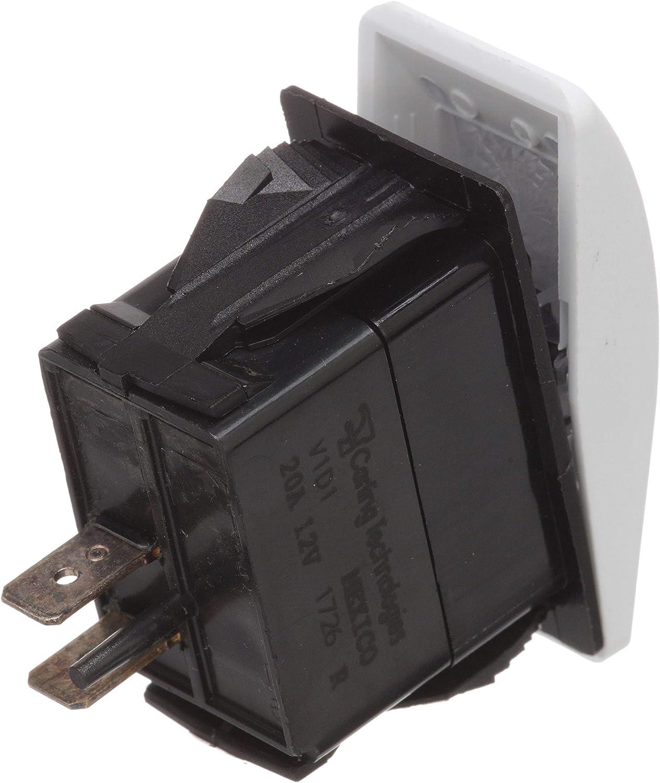 Seachoice 12811 Contura Rocker Switch – SPST – 2 Terminal – Non-Illuminated – On/Off – White