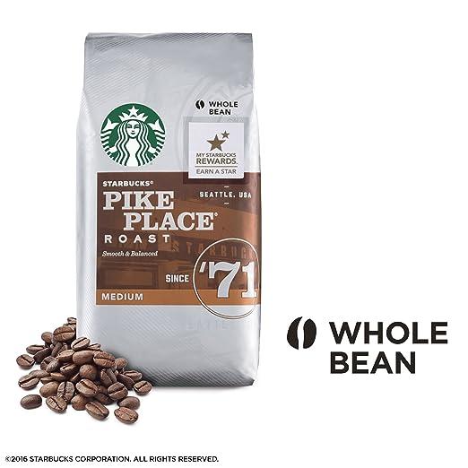 Pikes Peak Coffee >> Amazon Com Starbucks Pike Place Roast Whole Bean Coffee 1 Pound