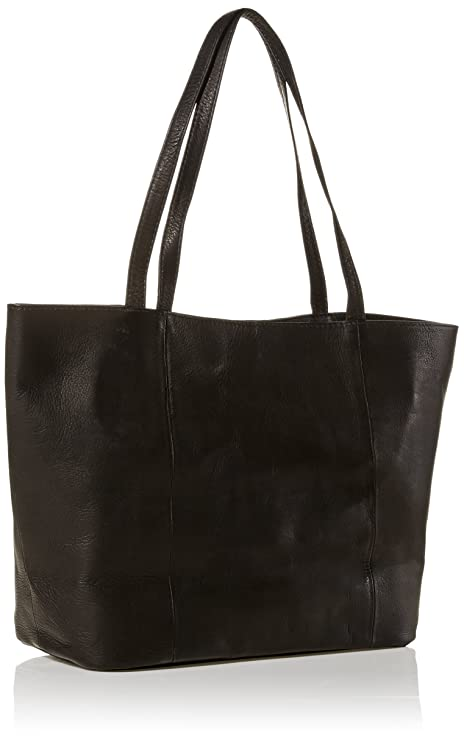 Amazon.com: Piel Leather Tote, Black, One Size: Piel Leather: LEATHEROPOLIS