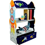 Fantasy Fields by Teamson Outer Space Childrens Wooden Bookcase Storage Kids Bookshelf TD-12220A