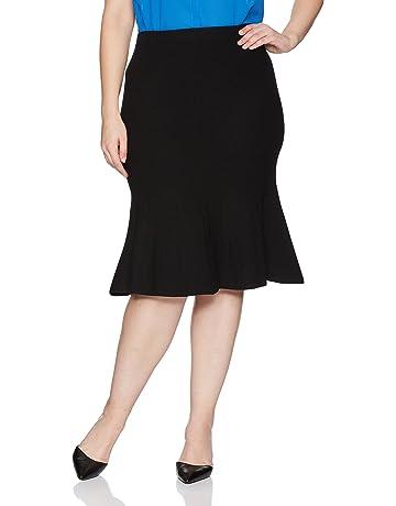 925accceb597bf RACHEL Rachel Roy Women's Plus Size Pebble Jacq. Fit and Flare Skirt