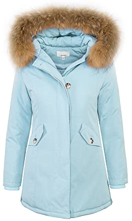 Rock Creek Selection Damen Echtfell Winter Jacke Parka Kapuze Designer  Damenjacke Outdoor D-204 XS-XL  Amazon.de  Bekleidung 74b719222b
