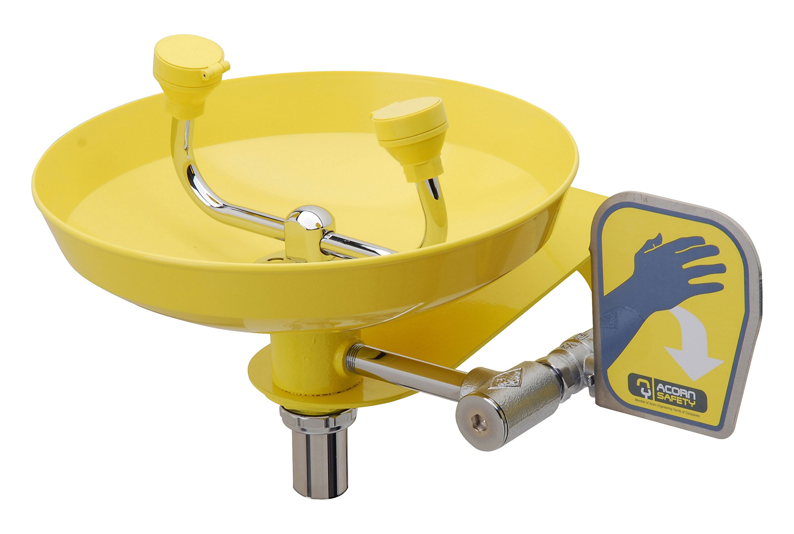 Acorn Safety Eyewash S0410 Wall Mounted, Plastic Bowl Utility Sink Faucet by Acorn