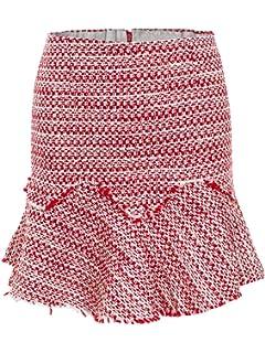 63a670202539be Terryfy Damen Kurz Rock Elegant Volant High Waist A-Linie Sommer  Reißverschluss Herbst Mini Skirt