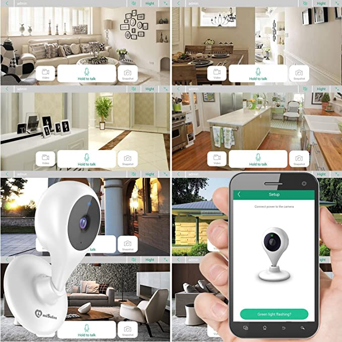 Amazon.com : MiSafes WiFi Baby Pet Video Monitors 1280x720p Wireless Security Camera HD Remote Home Surveillance Indoor Cameras with 2 Way Audio Talk for ...
