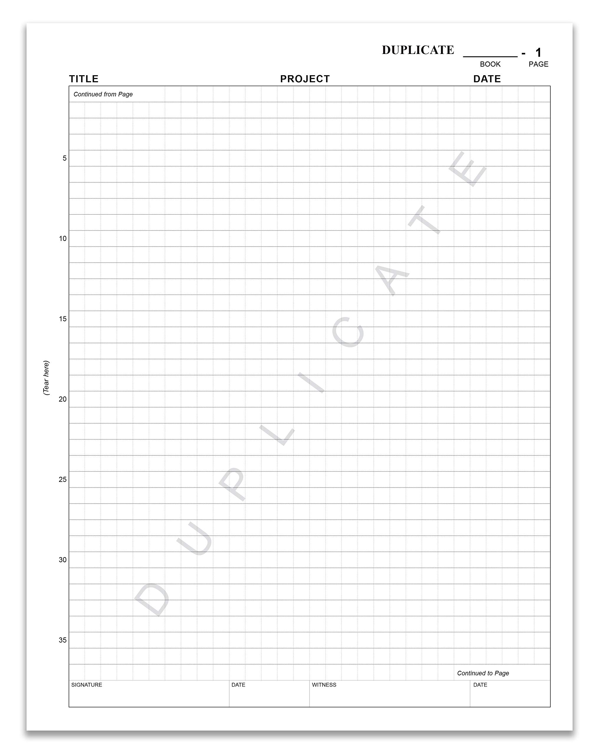 BookFactory Carbonless Biology Lab Notebook - 75 Sets of Pages (8.5'' X 11'') (Duplicator) - Scientific Grid Pages, Durable Translucent Cover, Wire-O Binding (LAB-075-7GW-D (Biology)) by BookFactory (Image #6)