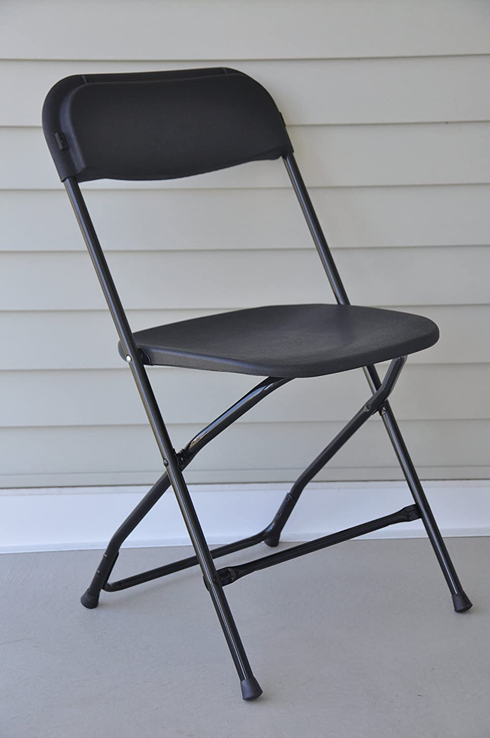 Amazon.com: Folding Chairs   Black Poly Heavy Duty, Stackable, Folding  Banquet Chairs   20 Pack: Kitchen U0026 Dining