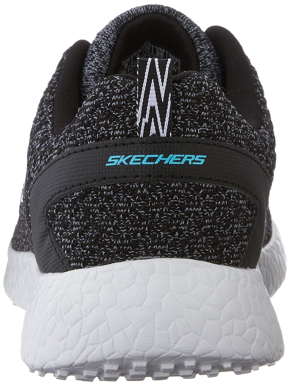 Skechers Sport Women's Burst Fashion Sneaker B0113O7FQS 6.5 B(M) US|Black/White