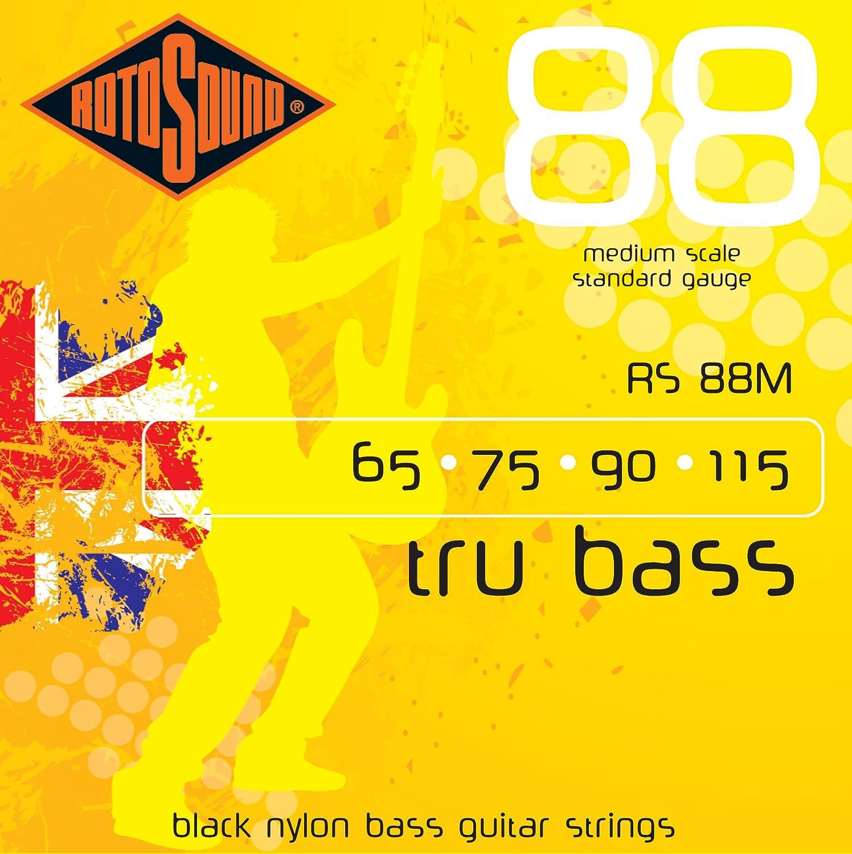Rotosound RS88M - Juego de cuerdas para bajo de nylon, 65 75 90 115