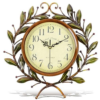 Soledi Reloj de Pared Estilo Pastoral y Europeo la Rama de Olivo